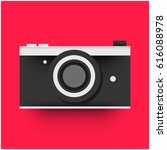 flat camera illustration | Shutterstock .eps vector #616088978
