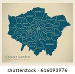 modern map   greater london...   Shutterstock .eps vector #616093976