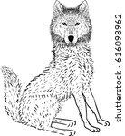 wolf vector illustration | Shutterstock .eps vector #616098962