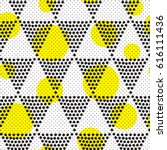 vector geometric seamless... | Shutterstock .eps vector #616111436
