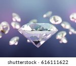 beautiful shining crystals ... | Shutterstock . vector #616111622