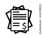 invoice bill icon | Shutterstock .eps vector #616138022
