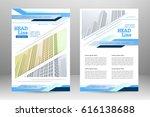 vector flyer template design.... | Shutterstock .eps vector #616138688