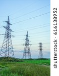 pylon and transmission power... | Shutterstock . vector #616138952