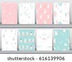 set of seamless background... | Shutterstock .eps vector #616139906