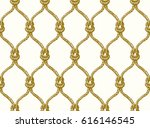 rope seamless tied fishnet... | Shutterstock .eps vector #616146545