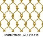 rope seamless tied fishnet...   Shutterstock .eps vector #616146545