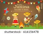 festa junina   brazil june... | Shutterstock .eps vector #616156478