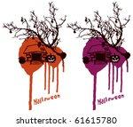 halloween scene with dirty... | Shutterstock .eps vector #61615780