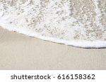 Foam Of The Sea In The Beach O...
