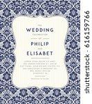 vintage wedding invitation... | Shutterstock .eps vector #616159766