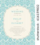 vintage wedding invitation... | Shutterstock .eps vector #616159832