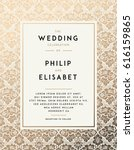 vintage wedding invitation... | Shutterstock .eps vector #616159865