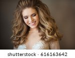 portrait of a beautiful young...   Shutterstock . vector #616163642