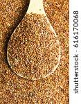 heap of quinoa healthy vegan... | Shutterstock . vector #616170068