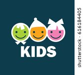 children logo design template.... | Shutterstock .eps vector #616184405