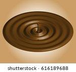 chocolate drop. a beautiful ...   Shutterstock . vector #616189688