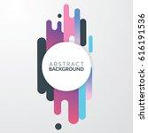 modern diagonal background.... | Shutterstock .eps vector #616191536