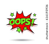 oops comic sound effects. sound ... | Shutterstock .eps vector #616193936