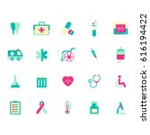 medical icon set | Shutterstock .eps vector #616194422