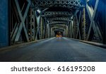 asphalt road under the steel... | Shutterstock . vector #616195208