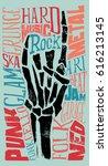 rock vector illustration for... | Shutterstock .eps vector #616213145