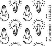 lamp  light bulb with heart...   Shutterstock .eps vector #616216136