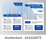 vector flyer template design.... | Shutterstock .eps vector #616226075
