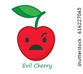 banner cherry emotions. vector... | Shutterstock .eps vector #616227065