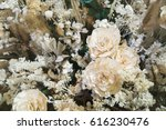 dried rose with other dried... | Shutterstock . vector #616230476