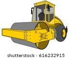 asphalt compactor  roller ...   Shutterstock .eps vector #616232915