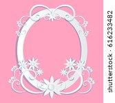 art paper  cut  frame ... | Shutterstock .eps vector #616233482