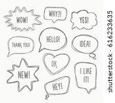 speech bubbles | Shutterstock .eps vector #616233635