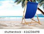 summer time on beach and sunbed  | Shutterstock . vector #616236698