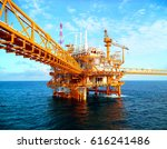 offshore construction platform... | Shutterstock . vector #616241486