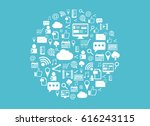 social media background. a... | Shutterstock .eps vector #616243115