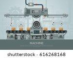 factory industrial machine... | Shutterstock .eps vector #616268168