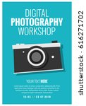 digital photography workshop... | Shutterstock .eps vector #616271702