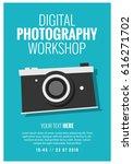 digital photography workshop... | Shutterstock .eps vector #616271702