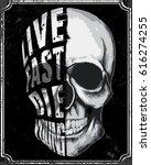 skull t shirt graphic design   Shutterstock .eps vector #616274255