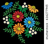 embroidery stitches imitation...   Shutterstock .eps vector #616277945
