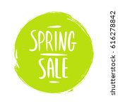 spring sale sign with... | Shutterstock .eps vector #616278842