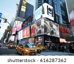 new york city   april 2 2017.... | Shutterstock . vector #616287362