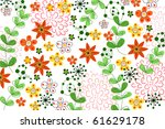 flower | Shutterstock .eps vector #61629178