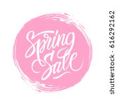 spring sale sign with... | Shutterstock .eps vector #616292162
