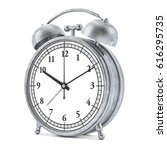 old style alarm clock isolated... | Shutterstock . vector #616295735