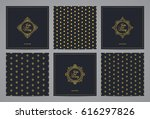 luxury retro wedding cards with ... | Shutterstock .eps vector #616297826