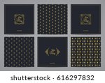 luxury retro wedding cards with ... | Shutterstock .eps vector #616297832