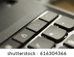 laptop keyboard close up. macro ... | Shutterstock . vector #616304366