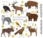 yellowstone national park... | Shutterstock . vector #616315532
